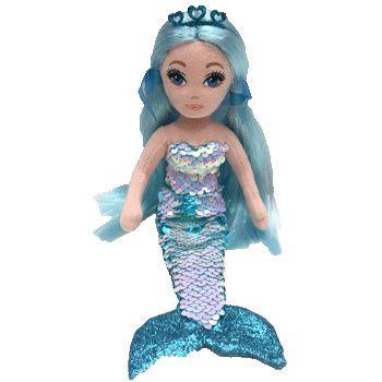 TY Mermaids - flitrová mořská panna modrá 27 cm