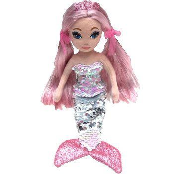 TY Mermaids - flitrová mořská panna růžová 27 cm