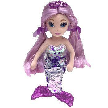 TY Mermaids - flitrová mořská panna fialová 27 cm