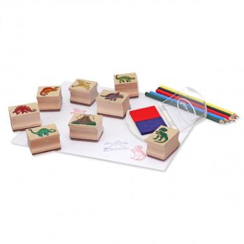 Dřevěná razítka v krabičce /Dino/