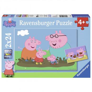 Ravensburger Prasátko Peppa Šťastný rodinný život 2x24 dílků