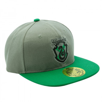 HARRY POTTER - Snapback Cap - Grey & Green - Slytherin