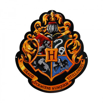HARRY POTTER - Metal plate Hogwarts (28x32) With hook