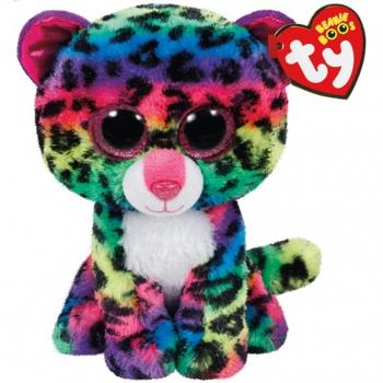 TY Beanie Boos DOTTY barevný leopard 24 cm