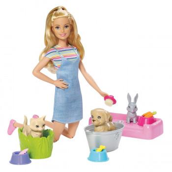 Barbie koupání zvířátek