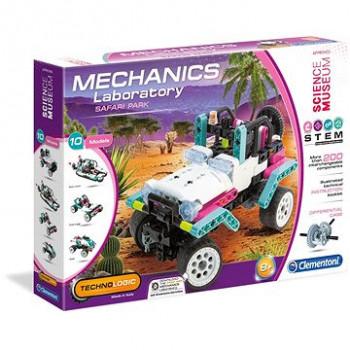 Clementoni Mechanická laboratoř Růžový safari jeep