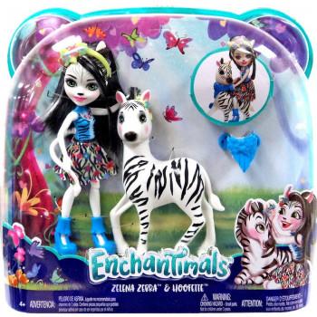 Enchantimals panenka s velkým zvířátkem Zebra
