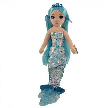 TY Mermaids INDIGO - flitrová mořská panna modrá 45 cm