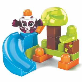Mega Bloks Peek a Blocks velká skluzavka Lesní panda