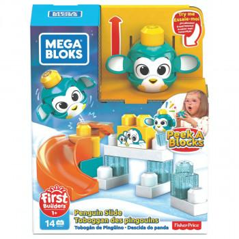 Mega Bloks Peek a Blocks velká skluzavka Tučňák