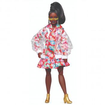 Barbie BMR1959 BARBIE VE VINYLOVÉM KABÁTKU MÓDNÍ DELUXE