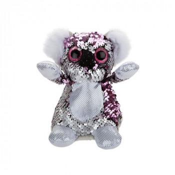 Flitrová plyšová koala 13 cm