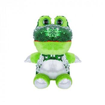 Flitrová plyšová žába 20 cm