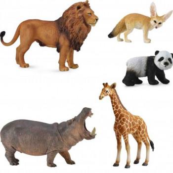 Zvířátka z volné přírody – set 5ks