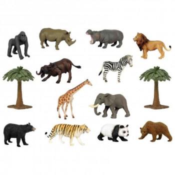 Zvířátka z volné přírody - mini set 14ks