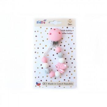 Klip na dudlík: Zajíček růžový