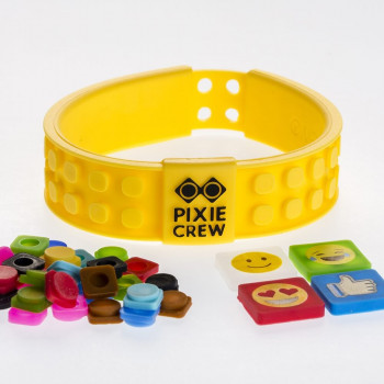 PIXIE CREW Kreativní náramek EMOJI žlutý
