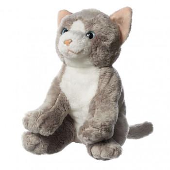 Hamleys plyšák - šedobílá kočka, 15 cm