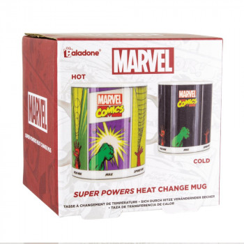 Marvel Comics Super Powers Heat Change Mug