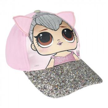 Dětská kšiltovka L.O.L. (LOL) s 3D detaily - růžová