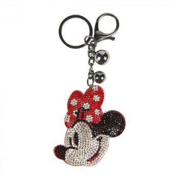 3D Klíčenka Minnie Mouse s kamínky