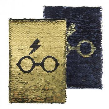 Prémiový flitrový blok Harry Potter