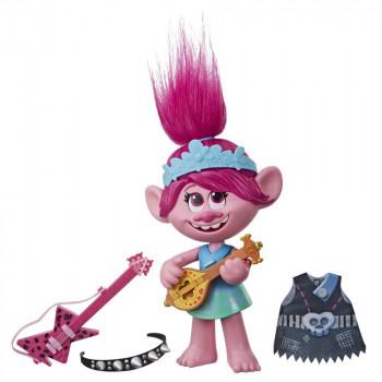 Hasbro Trolls zpívající figurka Poppy s rockovým příslušentv