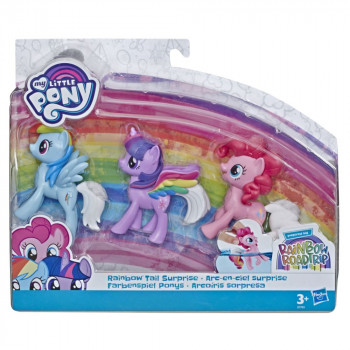 Hasbro My Little Pony Sada 3 poníků Rainbow Tail