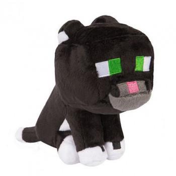 Plyšák Minecraft Tuxedo Cat, 18 cm