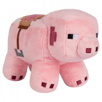 Plyšák Minecraft Saddled Pig, 25 cm