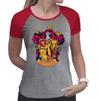 HARRY POTTER - Tshirt Gryffindor woman SS grey & red - premi