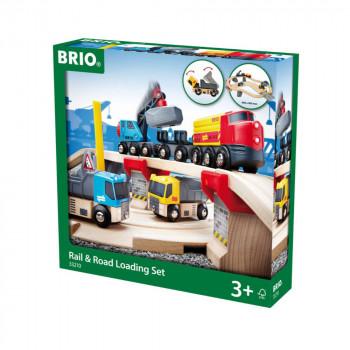 Brio 33210 - Vláčkodráha s nákl. vlakem, podjezdem a silnicí