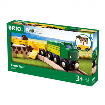 Brio 33404 - Zemědělský vlak pro přepravu zvířat se 2 vagónk