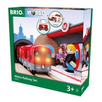 Brio Souprava metra s nástupištěm a kolejemi