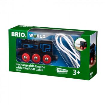 Brio 33599 Elektrická okomotiva nabíjecí přes mini USB kabel