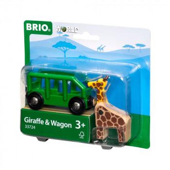 Žirafa a vagónek