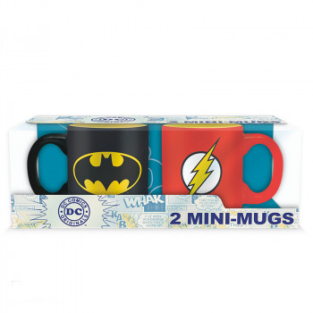DC COMICS - Sada 2 espresso mugs - 110 ml - Batman & Flash