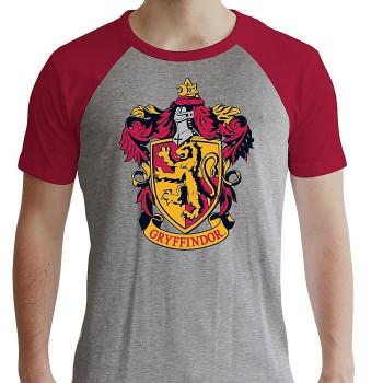 HARRY POTTER - Tshirt Gryffindor man SS grey & red- premium