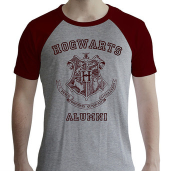 HARRY POTTER - Tshirt Alumni man SS grey & red - premium Med