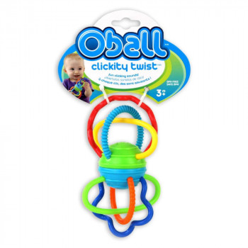 Kousátko Oball Clickity Twist, 3m+