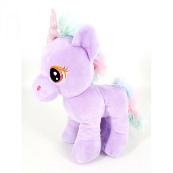 28 cm Standing Unicorn Blue