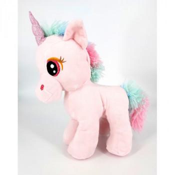 28 cm Standing Unicorn Pink