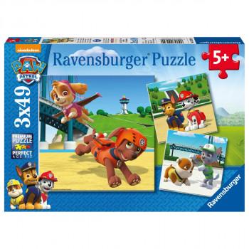 Ravensburger Tlapková Patrola Psí tým 3x49 dílků