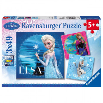 Ravensburger Disney Ledové království Elsa, Anna & Olaf 3x49