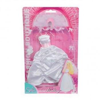 Steffi Love Šaty pro panenku Steffi svatební Svatební světle