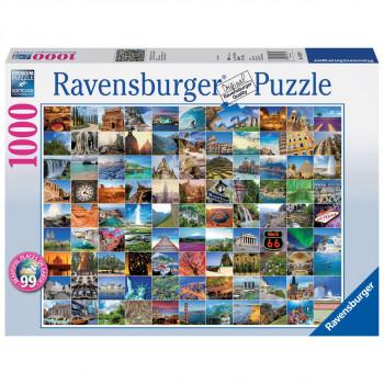 Ravensburger 99 nádherných míst na zemi 1000 dílků