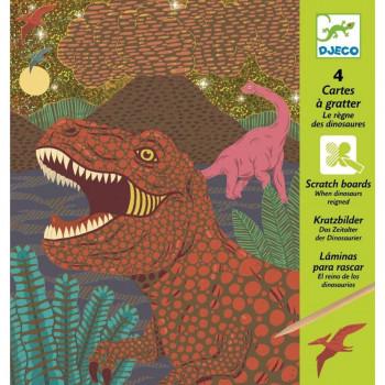 Djeco Vyškrabávací obrázky Dinosauři