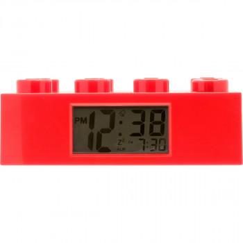 LEGO Brick Hodiny s budíkem Červená