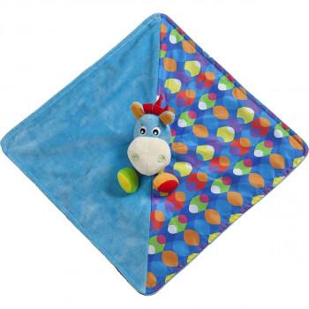 Playgro Mazlící dečka oslík modrý