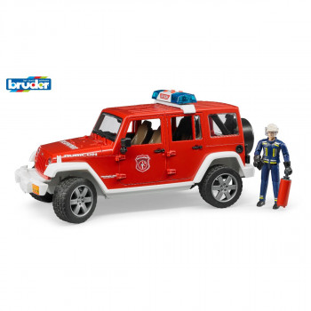 Bruder 02528 Hasičský Jeep Wrangler Unlimited Rubicon + hasi